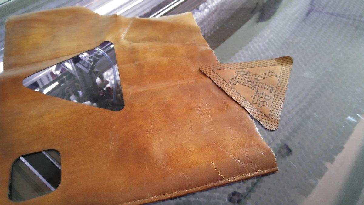 Essai sur du cuir