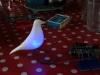 Eames Bird, éclairé bleu