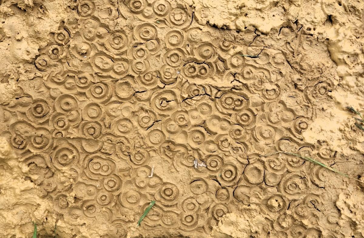 Enduit terre et motif impression 3D