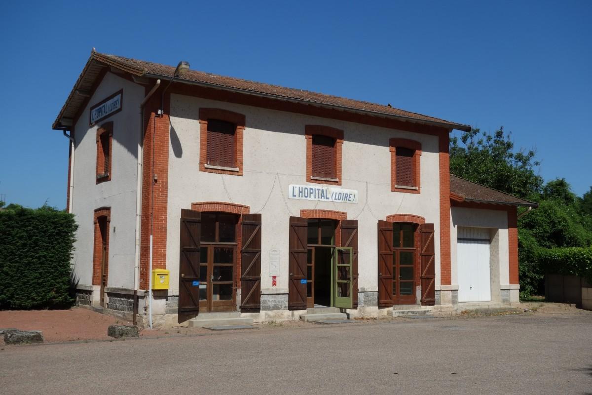 Le fablab du roannais, dans l'ancienne gare de l'Hopital sur Rhin