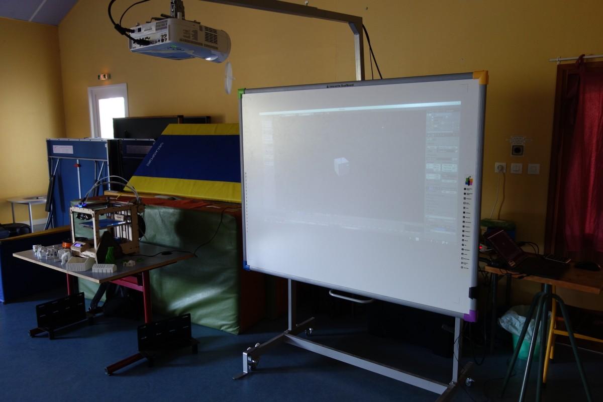 Démonstration impression 3D école de Cordelle