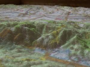 FabLab Festival - zoom sur la carte 3D (polystyrène fraisé)
