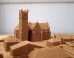 Détail de la maquette de Saint-Cyr-de-Favières