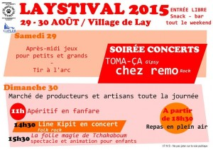 Programme Lay'Stival 2015