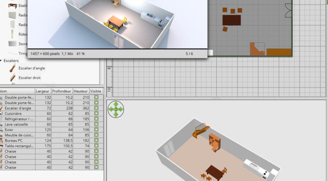 Mardi du numérique: faites vos plans 3D de maison avec SweetHome3D